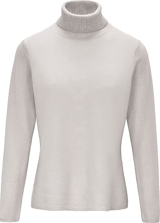include Roll-neck jumper in pure new wool and cashmere include beige
