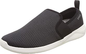 Crocs Mens LiteRide Mesh Slip-On Black/White Standard Men Shoe M10