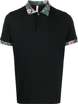 Sun 68 Poloshirt mit Kontrastkragen - Schwarz