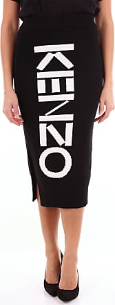 Kenzo Knee-length Black and white