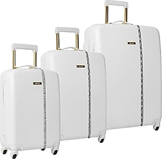 Nine West Noelle 3 Piece Hardside Spinner Luggage Set (White)