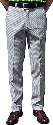 Relco Dogtooth Sta Press Trousers Sizes 30-40 Available (40)