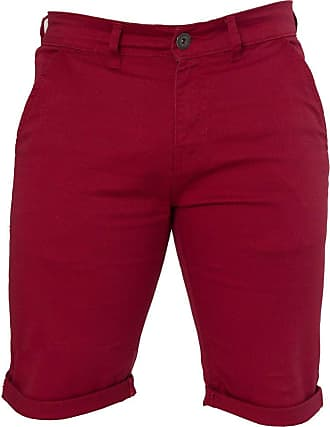 Enzo Jeans Mens Slim Fit Stretch Cotton Chino Summer Shorts Black Blue Red Grey, BNWT 40 X Regular Leg Red
