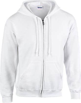 Gildan Gildan Heavy Blend Unisex Adult Full Zip Hooded Sweatshirt Top (4XL) (White)