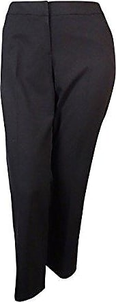 38bb175c0dd37 Tahari by ASL Womens Petite Basic Bi-Stretch Straight Leg Pant, Black, 14P
