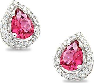 Royalz Brinco Royalz Semi Joia Prateado Cristal Rauany Pink