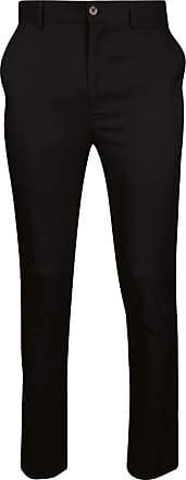 Glenmuir Mens Lightweight Performance Golf Trousers Black Regular 40