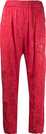 Guardaroba Calça com estampa floral - Vermelho