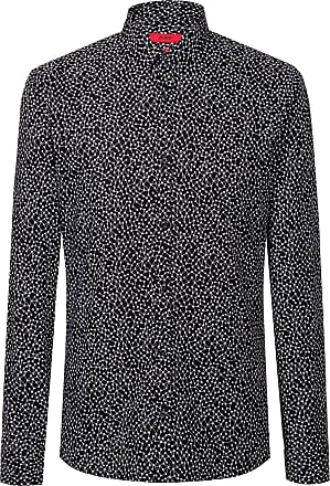 HUGO BOSS Extra-slim-fit shirt in atom-print cotton