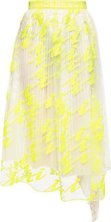 Iceberg Pleated Skirt Womens Yellow