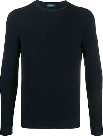 Zanone crew neck cotton sweatshirt - Blue