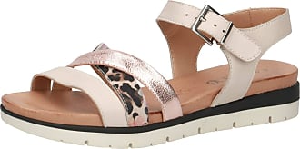Caprice Womens Kenzo Ankle Strap Sandals, Beige (Beige Leo Comb 427), 6.5 UK