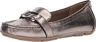 b1472d391b7 Anne Klein Womens Petra Loafer Flat Pewter Leather 5 M US