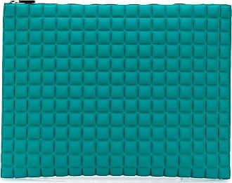 No Ka'Oi Pouch oversize con motivo geometrico - Di colore verde