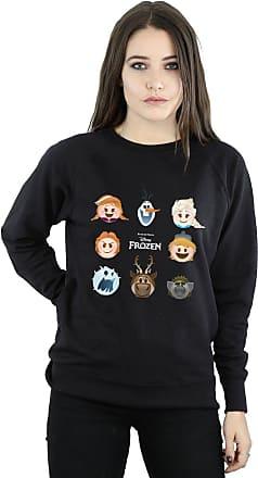 Disney Womens Frozen Emoji Heads Sweatshirt X-Large Black