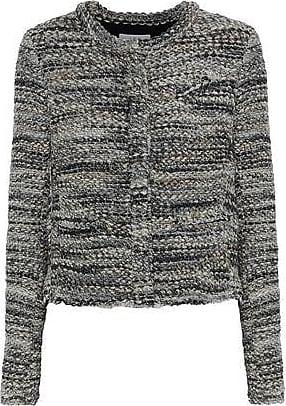 af7868e3416 Iro Iro Woman Carene Bouclé-tweed Jacket Gray Size 42