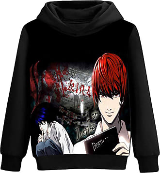 Haililais Death Note Pullover Patterned Printing Pure Cotton Comfortable Hooded Sweatshirt Spring and Autumn Pullover Unisex (Color : A04, Size : XL)