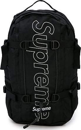 SUPREME logo print backpack - Black