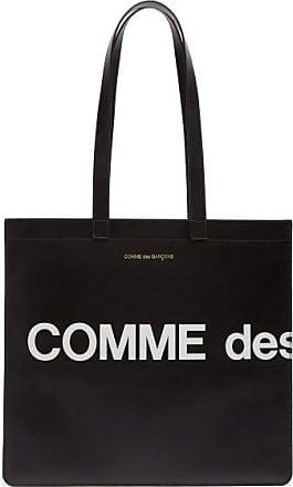 Comme Des Garçons Comme Des Garçons Wallet - Logo-print Leather Tote Bag - Mens - Black