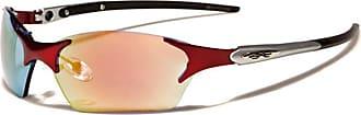 X Loop New Xloop Mens or Womens Sports Sunglasses Designer Wraparound 100% UV400 (Red)