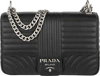 Prada Cross Body Bags - Diagramme Leather Shoulder Bag Nero2 - black - Cross Body Bags for ladies