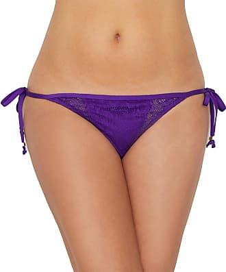 Pour Moi? Womens Puerto Rico Tie Side Brief Bikini Bottoms, Purple (Amethyst), (Size: 14)