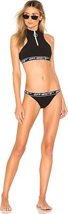 Off-white Active Zip Bikini Set in Black