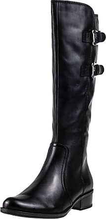 Caprice Nappa High 2 Strap Buckles Womens Boots Black - 5 UK