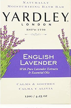 Yardley London English Lavender with Essential Oils Soap Bar, 4.25 oz Bar (Pack of 8)