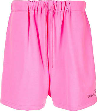 We11done logo sweat shorts - PINK