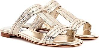 Tod's Metallic leather sandals
