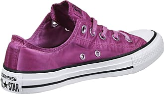 d6d3e93daec623 Converse Womens Chuck Taylor All Star Ox Magenta Glow White Canvas Trainers  4.5 UK