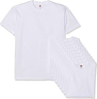 4aed239cedd16 Fruit Of The Loom Super Premium Short Sleeve T- T-Shirt, Blanc (