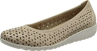 Caprice Womens Faby Ballet Flats, Beige (Sand Nappa 328), 6 UK