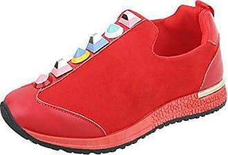 1115da9cae84f5 Ital-Design Sneakers Low Damen-Schuhe Sneakers Low Sneakers Freizeitschuhe  Rot