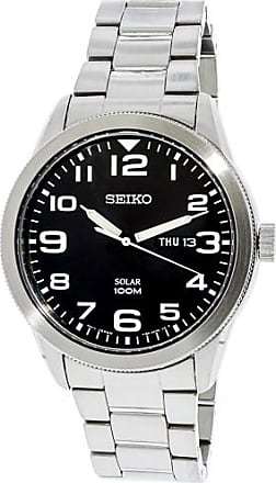 Seiko Mens SNE471 Silver Stainless-Steel Automatic Fashion Watch