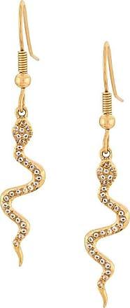 Nialaya crystal snake drop earrings - GOLD
