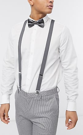Asos brace and bow tie set in grey
