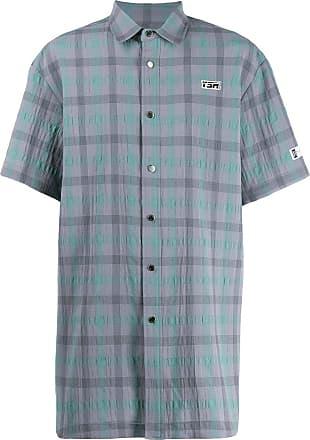 Youser Camisa com estampa xadrez - Cinza