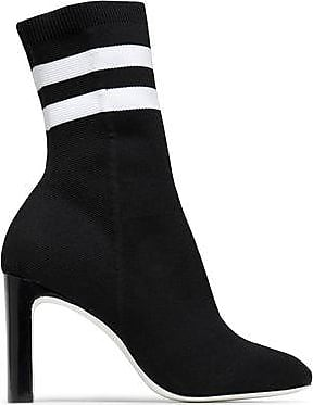 Rag & Bone Rag & Bone Woman Ellis Striped Stretch-knit Sock Boots Black Size 37
