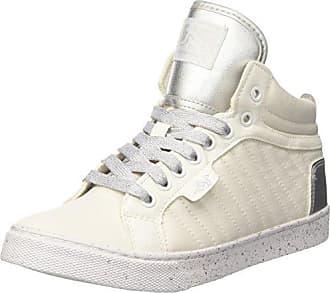 18b79d6e7a Drunknmunky Boston Raw, Sneaker a Collo Alto Donna, Bianco (White/Silver)
