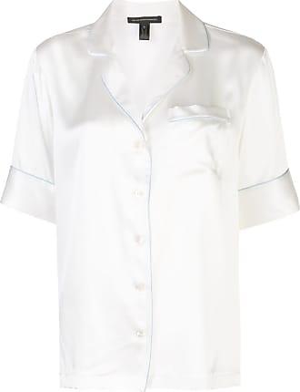 Kiki De Montparnasse pipe trim pyjama shirt - White