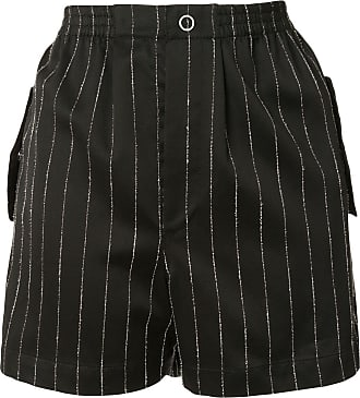 Dion Lee chalk stripe shorts - Black