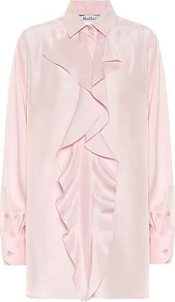 Max Mara Tefrite ruffled silk-shantung shirt