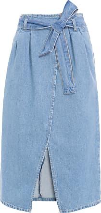 Cantão Saia Jeans Clochard Longuete Cantão - Azul