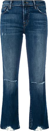 J Brand cropped distressed jeans - Blue