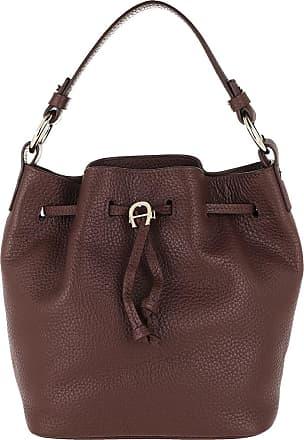 Aigner Tara Small Bucket Bag Bitter Chocolate Brown Bucket Bags bruin