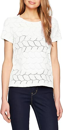 Jacqueline de Yong Womens JDYTAG S/S LACE TOP JRS RPT2 NOOS T-Shirt, Blue (Cloud Dancer), Large