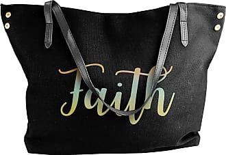 Juju Have Faith Womens Classic Shoulder Portable Big Tote Handbag Work Canvas Bags