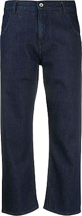 Ymc You Must Create Calça jeans reta cropped - Azul